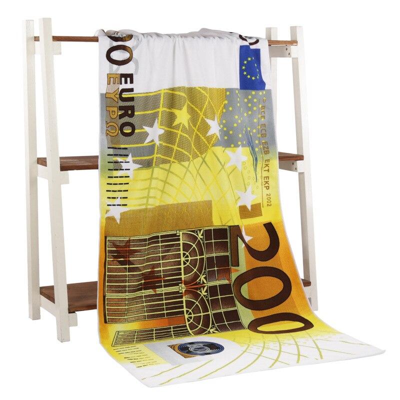 64c74be9c192 Euro Dinheiro a Atividade de Impressão de Microfibra Toalha de Banho ...