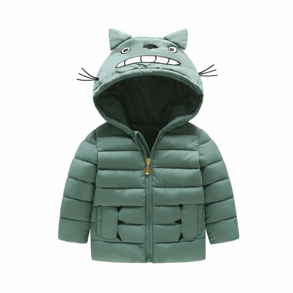 Children's Outerwear Boy and Girl Winter Warm Hooded Coat Children Cotton-Padded Clothes boy Down Jacket kid jackets 2-8 years