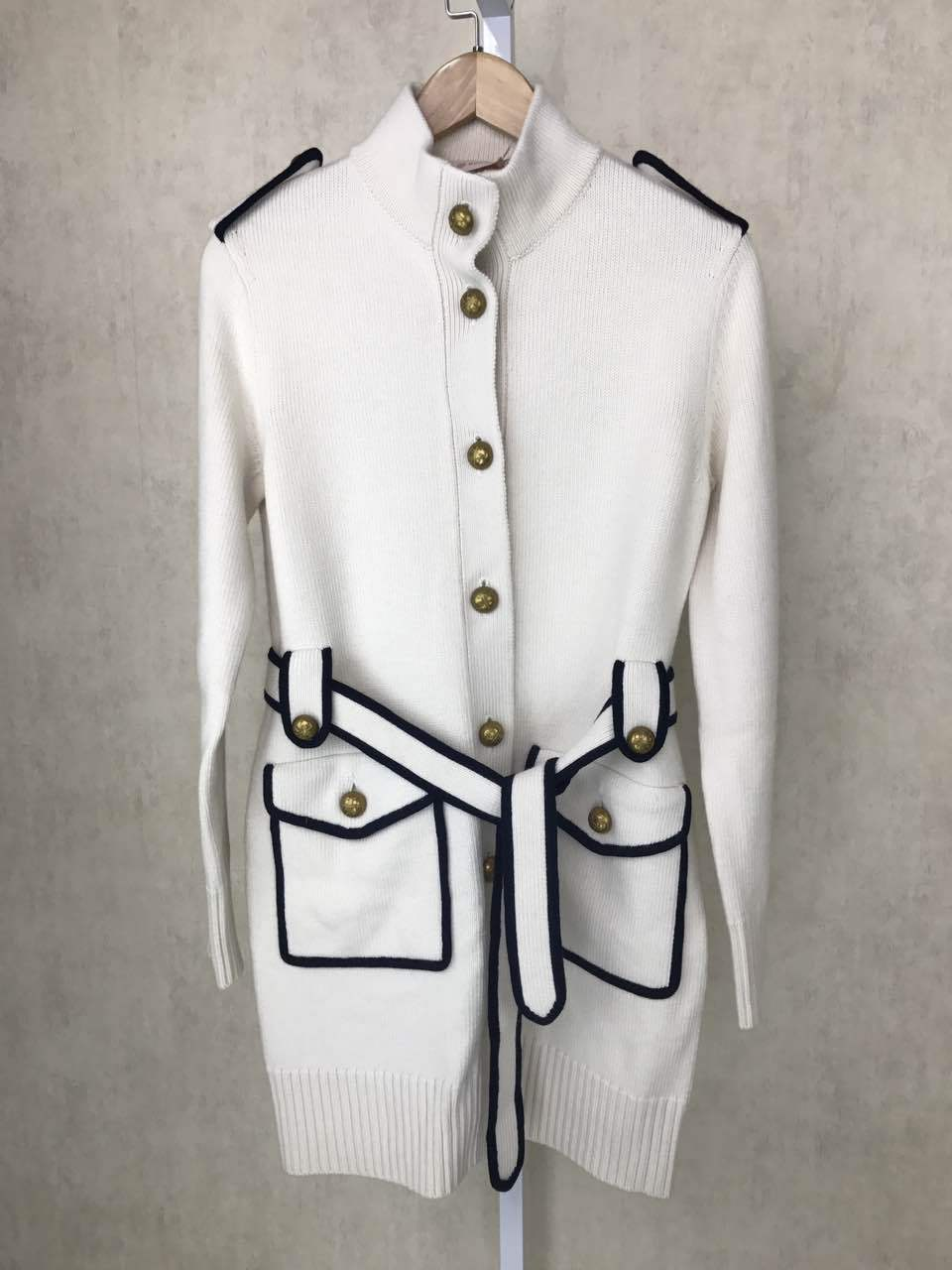 Suéter de punto blanco de punto largo cárdigan mujer de punto otoño e invierno abrigo y chaquetas con bolsillos de cinturón-in Caquetas de punto from Ropa de mujer    2