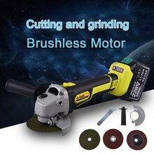 где купить Angle Grinder Cordless Cutting Grinding Polishing Derusting Repair Brushless Magnetic Motor Power Tools Sets For Wood Metal Cut по лучшей цене