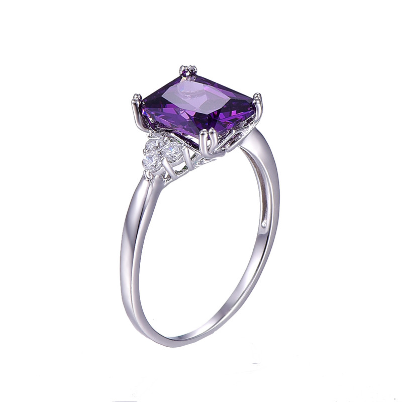 engagement raw gemstone faceted of partially custom kind wedding purple one ring products rings violet sapphire a three rose diamond gold stone