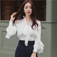 2018 Women's  Tunic Shirt  blouses Large size Stripe shirt Gloria   Top Female Women's suits, long sleeves white sleeves shirts