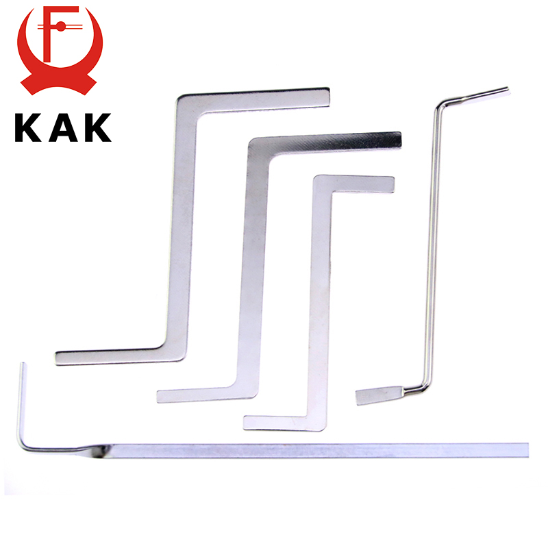 KAK 5PCS Locksmith Tools Stainless Steel Double Row Tension Wrench Tool Removal Hooks Lock Extractor Set Furniture Hardware