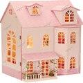 Muebles de Casa de Muñecas hecha a mano Unisex 3d Dollhouse Miniatura Diy Casas de Muñecas En Miniatura De Madera Juguetes Para Niños de Regalo Artesanías 13009