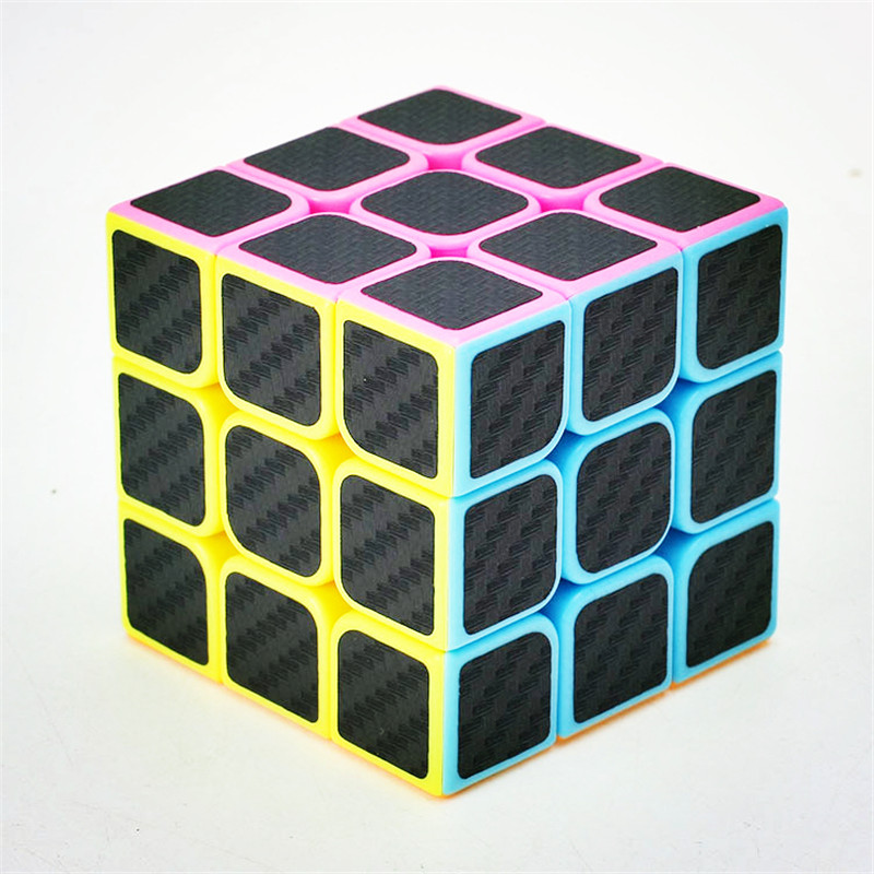 Zcube Carbon Fiber Sticker Magic Cube 3x3x3 Puzzle Cubes Speed Cubo Square Puzzle Gifts Educational Toys
