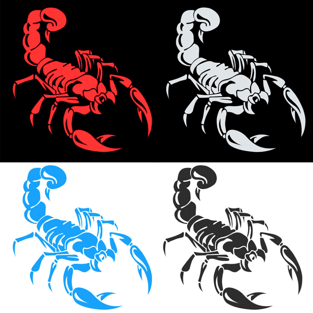 How to design car sticker - Fashionable Design Car Vehicle Sticker Personal Front Rear Bumper Sticker Car Styling Decoration Scorpion Pattern
