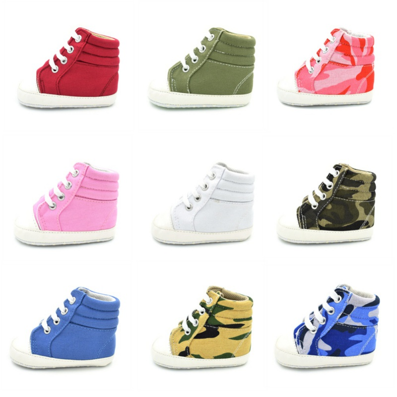 Baby Shoes First Walker Boys Girl High Top Shoe Infant Newborn Casual Canvas Prewalker Children Booties Kids Boots Sport Sneaker