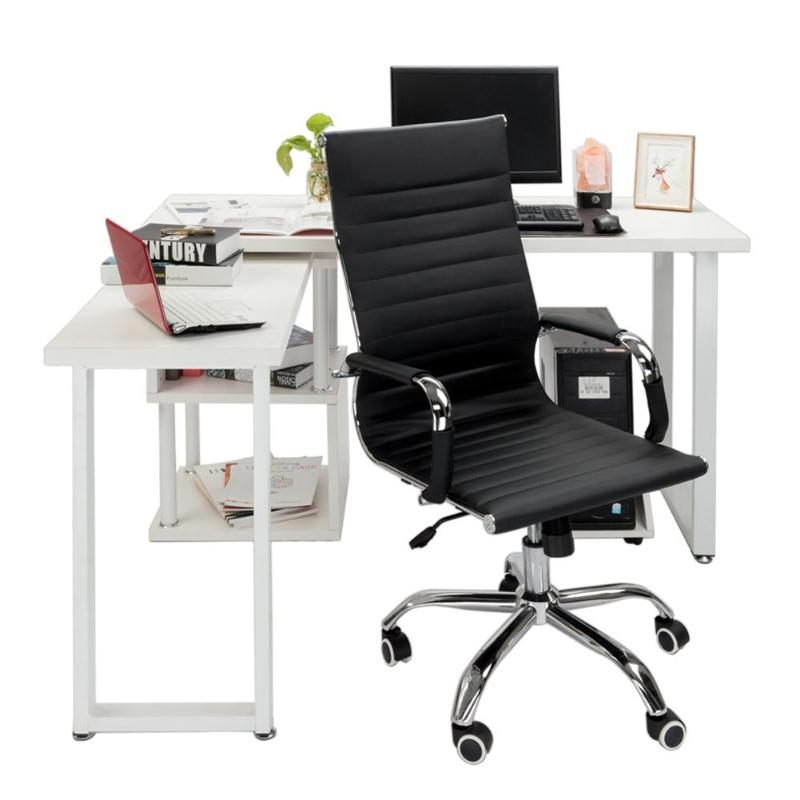 Adjustable Height Office Chair PU Leather High Back Swivel Chair Ergonomic Computer Chair Anchor Home Cafe Games Office Chairs