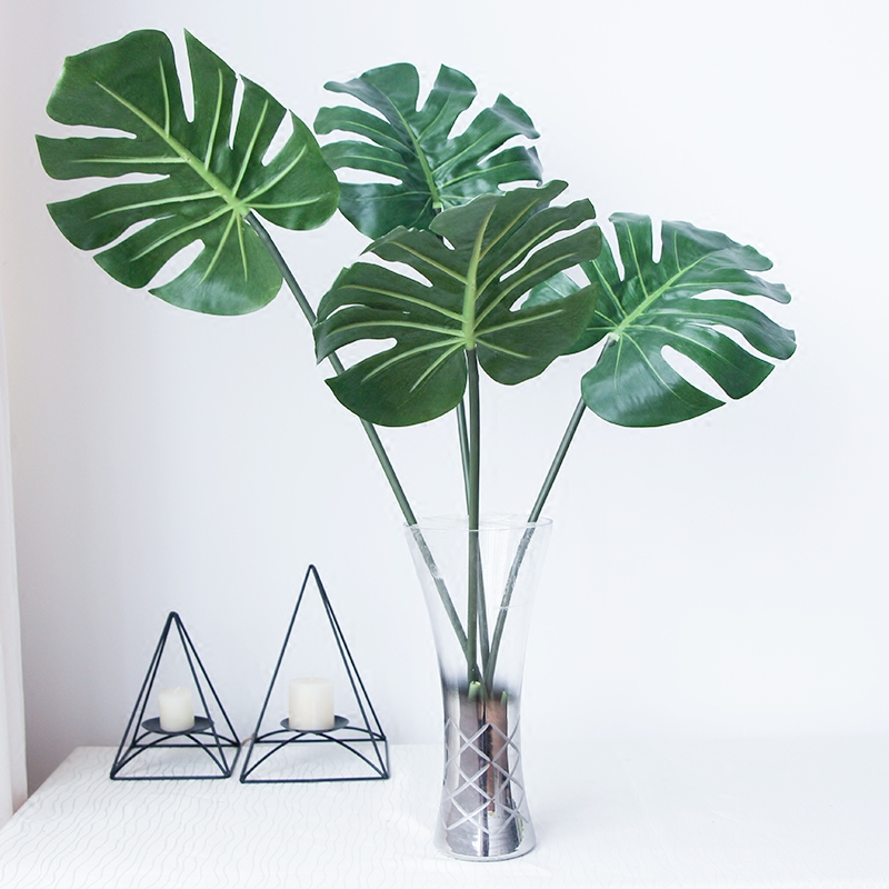 Green artificial monstera turtle leaf wall artificial for Plante palmier