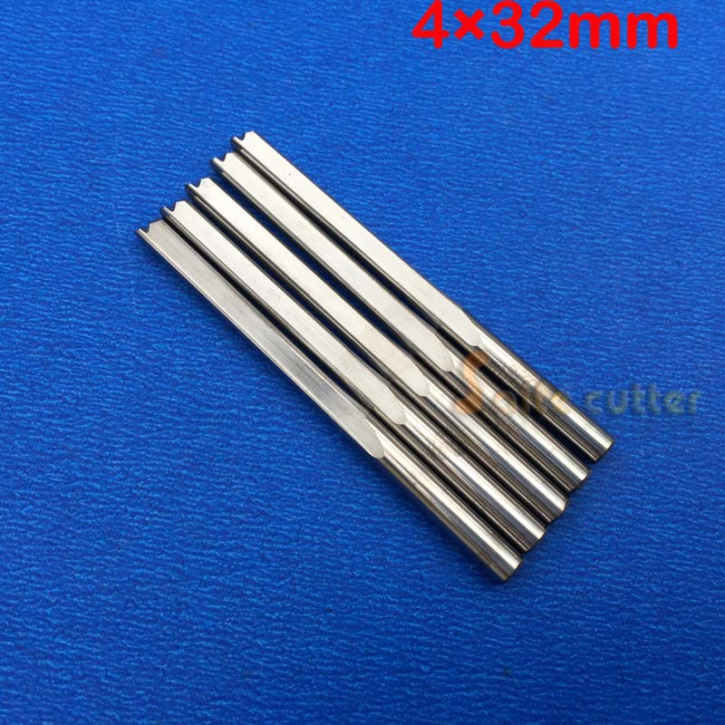 ÚJ 5db / tétel 4 * 32 mm-es keményfém kettős / dupla fuvolas egyenes nyílású marócsavar, CNC faragványos metsző szerszámok, marószerszám Ingyenes házhozszállítás