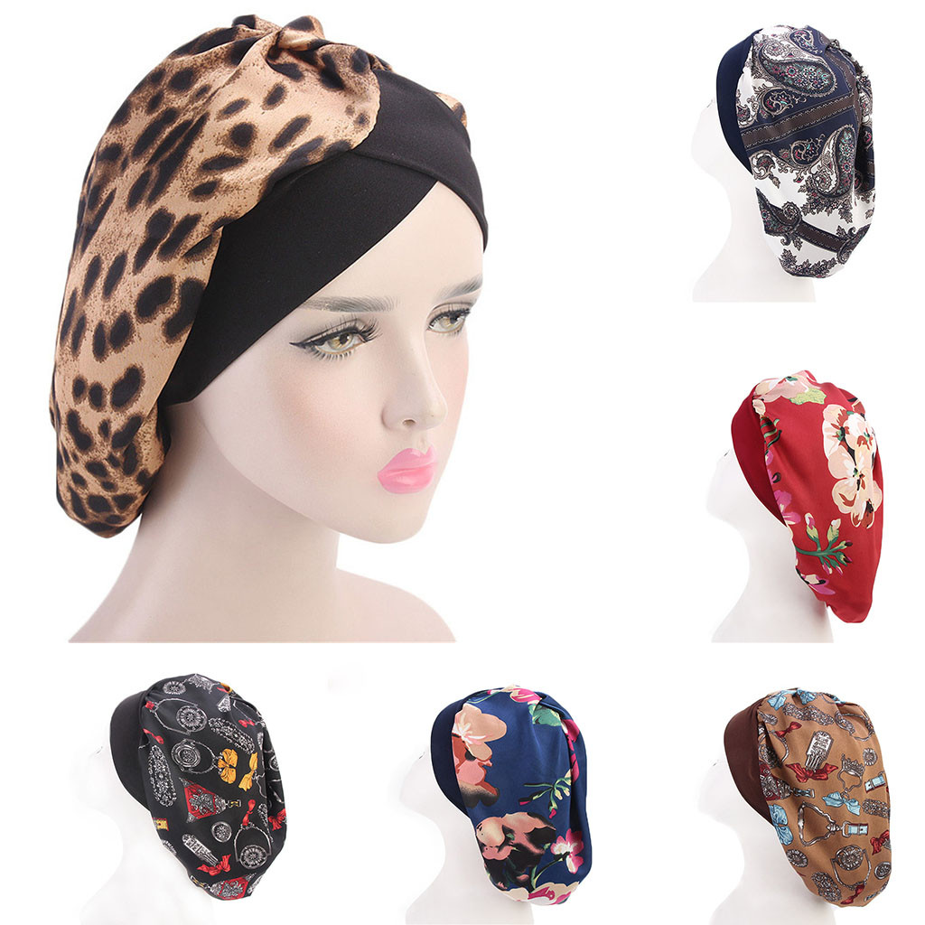 2019 New Arrival Long Hair Care Women Fashion Satin Bonnet Cap Night Sleep Hat Silk Cap Head Wrap In stock Dropshipping headpiece