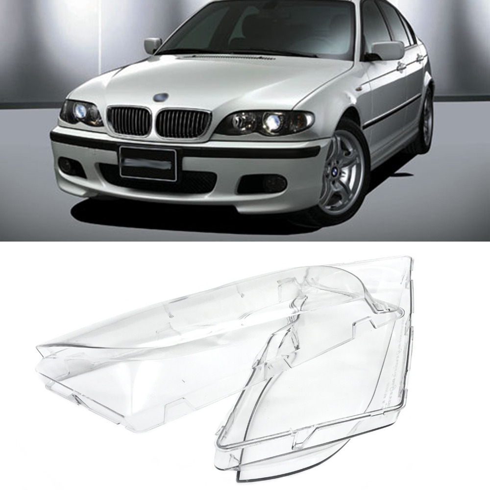 JEAZEA Car Left Right Side Headlight Lens For BMW E46 3 Series 325xi 330i 330xi 2002