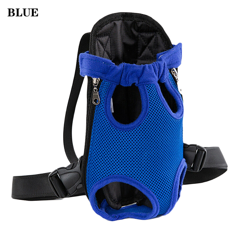 Pet Carrier Dog Front Chest Backpack Five Holes Backpack Dog Outdoor Carrier Tote Bag Sling Holder Mesh Cat Puppy Dog Carrier 8