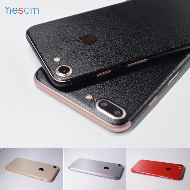 new style 572ae c61a4 US $2.99 |YIESOM For iPhone 8 Plus 7 7Plus 6S 3M DIY Leather Skin Body  Paste Sticker Protective Film for iPhone 6 6S Plus Phone Back Film-in  Fitted ...