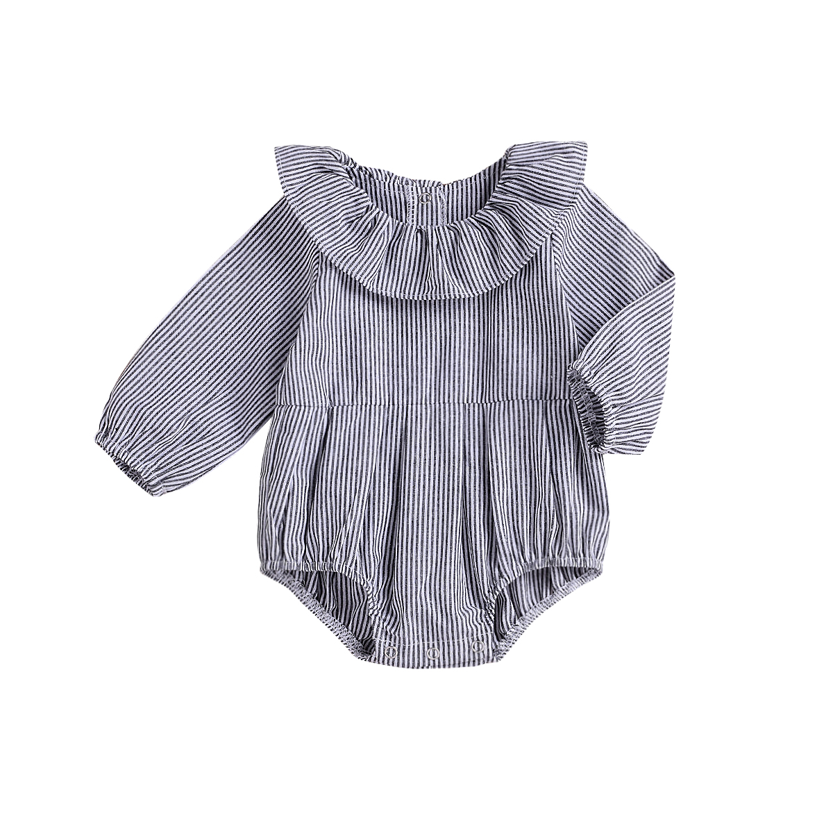 Autumn New Infant Newborn Baby Girl Stripe   Rompers   Long Sleeve Baby Girl Jumpsuit Playsuit Baby Girls Clothes