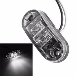 QILEJVS Лидер продаж 1 шт. белый 2LED боковой маркер габаритный фонарь лампа автомобиль грузовик прицеп караван 10-В 32 В jul17