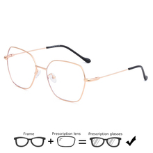 Personality Polygon Eyeglasses Prescription Eyewear Men Vintage Optical Metal Frame Glasses Women Myopia Spectacles