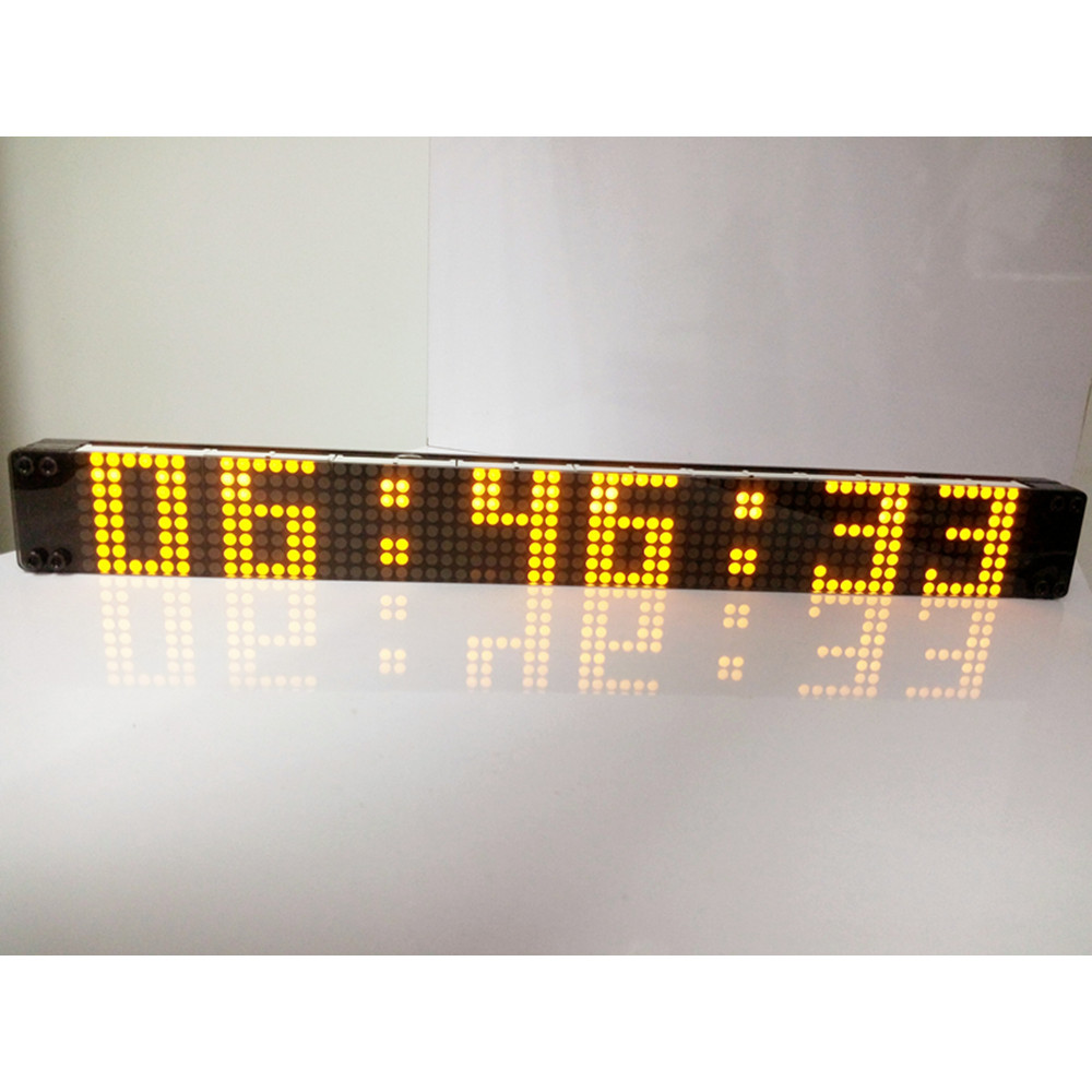 DIY ! Remote Control Large Big Digital LED Wall Clock Modern Design Clocks Home Decor Watch Decoration Decorative Silent Alarm  -  Poon Brothers Mall store