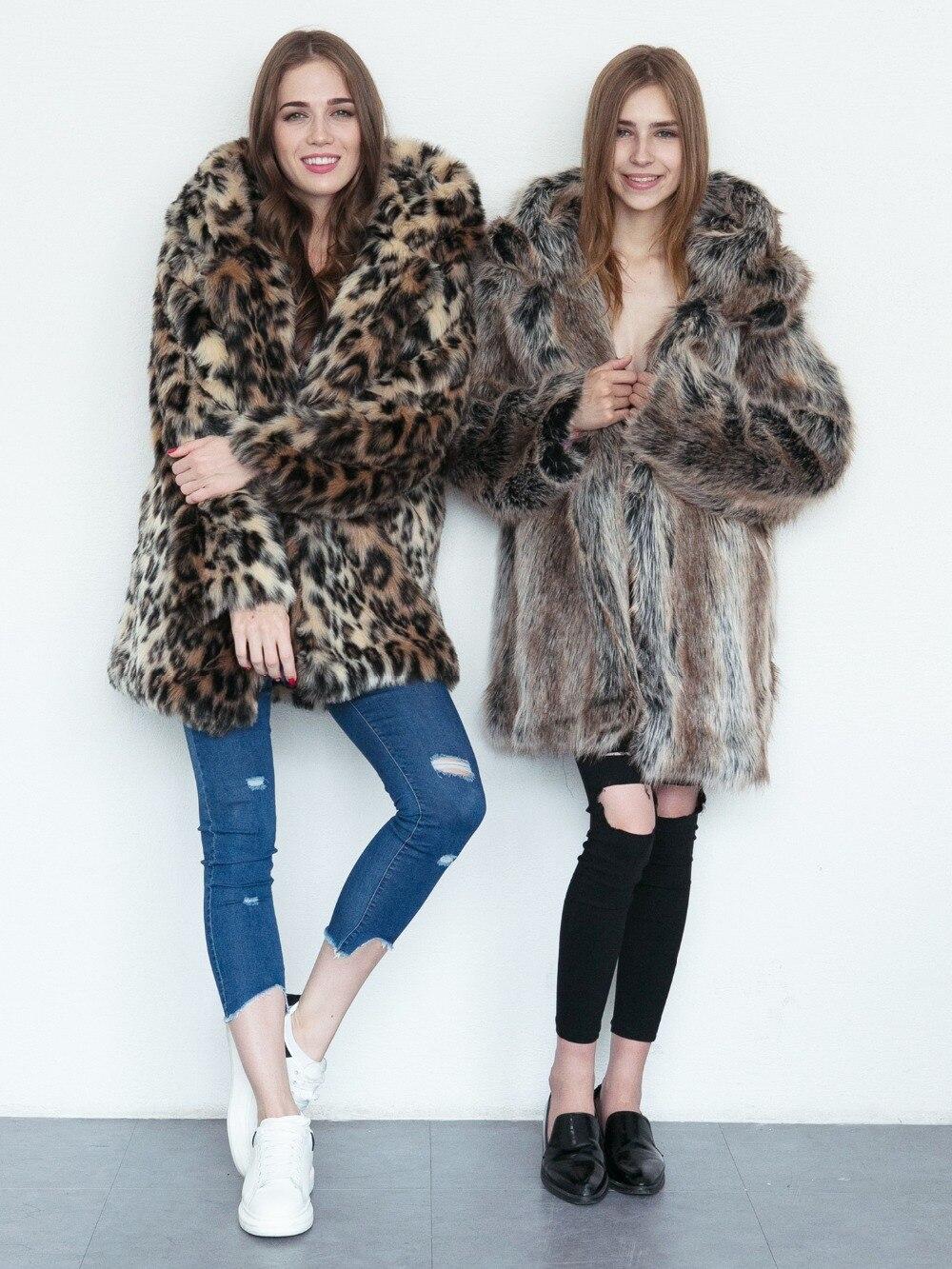 Street Poilu Chat multi Faux High Fashion Outwear Manger Fourrure Veste Femmes Noir Mignon D'hiver Manteau gris Chaud Avec camel De 8O0knPXw