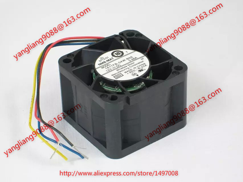 NMB-MAT 1611FB-04W-B66, BB4 DC 12V 0.88A     40x40x28mm Server  Square fan nmb mat 3110kl 04w b49 b02 b01 dc 12v 0 26a 3 wire server square fan