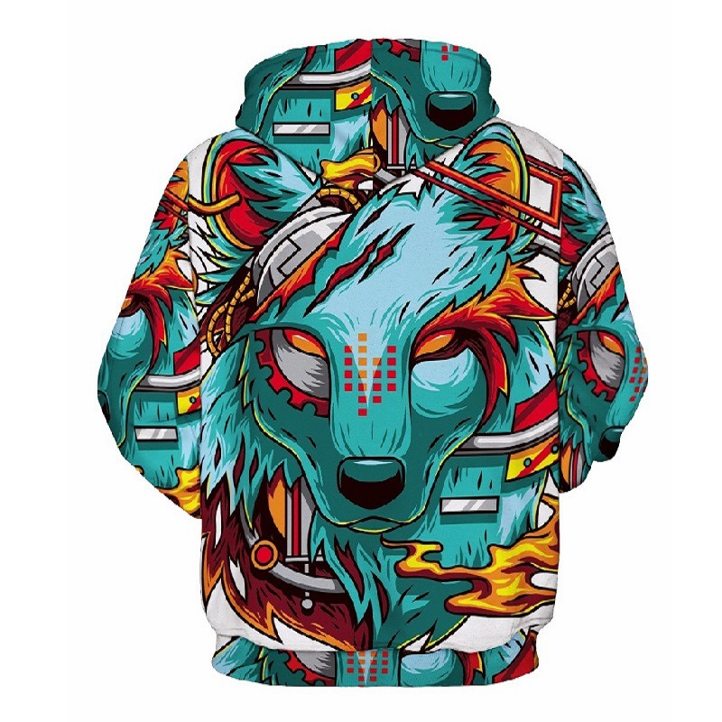 Wolf Printed Hoodies Men 3d Hoodies Brand Sweatshirts Boy Jackets Quality Pullover Fashion Tracksuits Animal Streetwear Out Coat 49