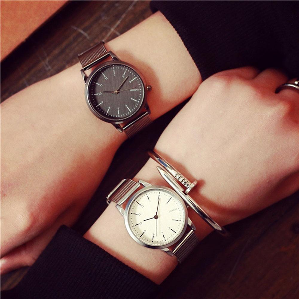 Fashion Luxury Brand Watches Women Gold / Silver Stainless Steel Band Quartz Analog Wrist Watch Ladies Business Dress Watches  недорого