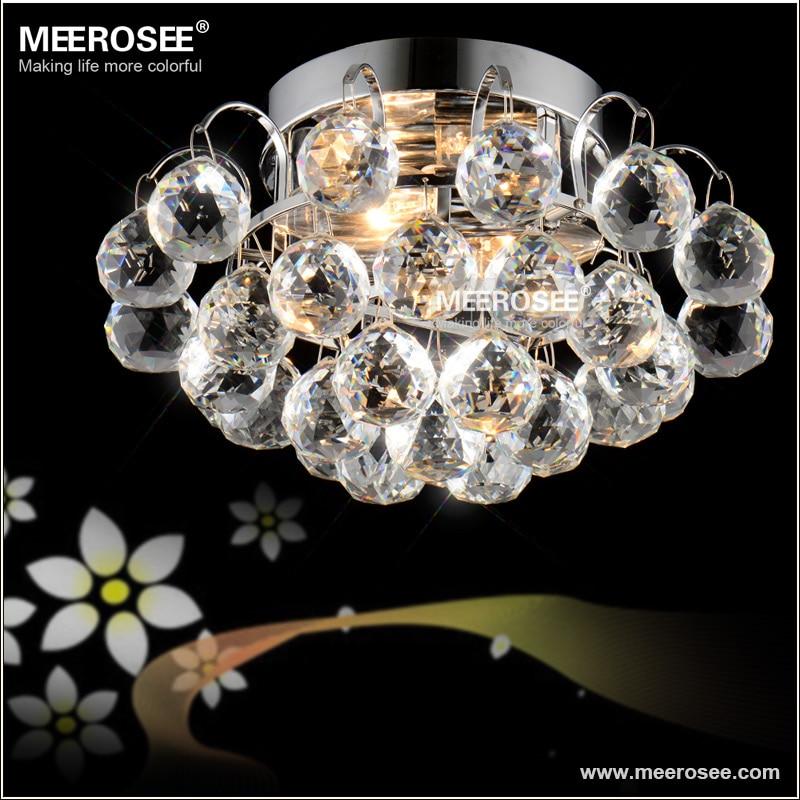 Modern Crystal Ceiling Light Fitting E14 E12 Surface Mounted Lustres De Cristal Lighting For Living Room