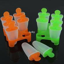 6 Cell DIY Frozen Ice Cream Pop Mold Popsicle Maker Lolly Mould Tray Pan Kitchen tools Free shipping