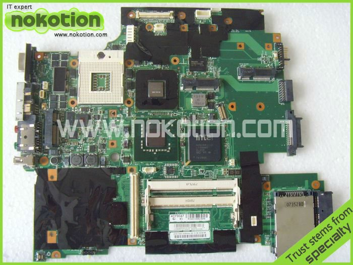 FRU: 43Y9047 11S42X6803 FOR Lenovo IBM thinkpad R61 T61 15.4 LAPTOP Motherboard 965PM Nvidia G86-740-A2 128M 42W7652 DDR2