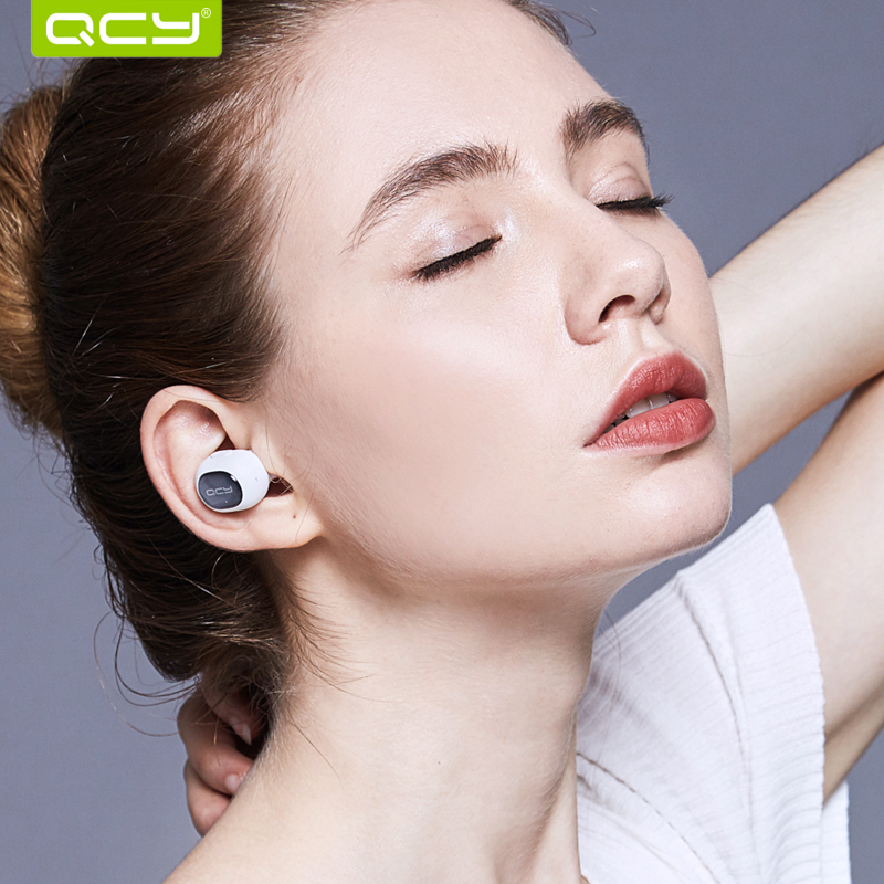 Qcy Q26 Mini Bluetooth Earphone With Mic Wireless Headset Music Earbud Bluetooth V4.1 Noise