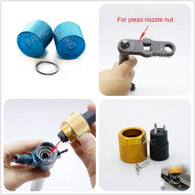 ERIKC Grinding Gaskets Shims Tool Diesel Repair Polish Tool For Bosch Piezo Nut Piezo Siemens Inner Wire Tool CR Injector Nozzle