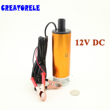 цена на Aluminium Alloy DC 12V Submersible Transfer Diesel Fuel Water Oil Pump On/Off Switch Car Camping Portable 30L Per Minute