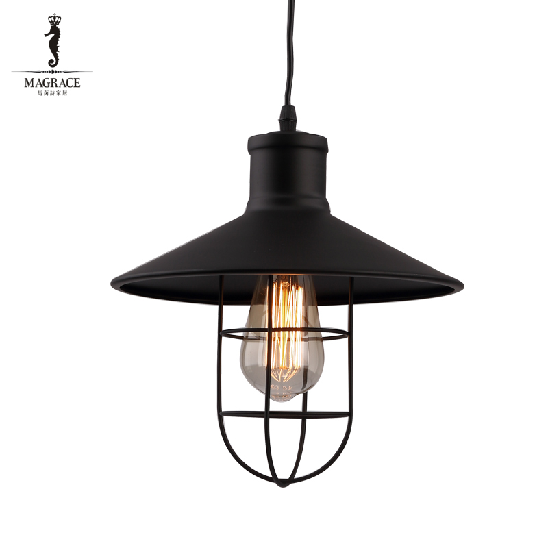 Vintage Iron Pendant Light Loft Industrial Lighting Design Cage Pendant Lamp Hanging Lights E27 Bar Cafe Restaurant 25cm*25cm