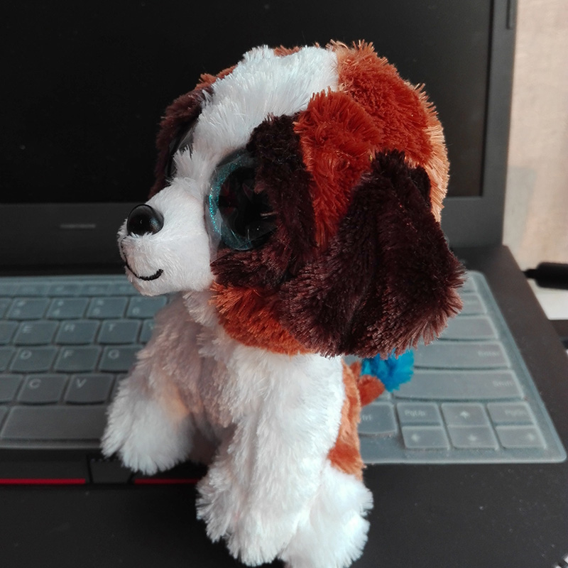 7b309dec917 Aliexpress.com   Buy In Stock Original Ty Beanie Boos Big Eyed Stuffed  Animal DUKE brown white dog Plush Doll Kids Toy 6   Birthday Gift from  Reliable doll ...