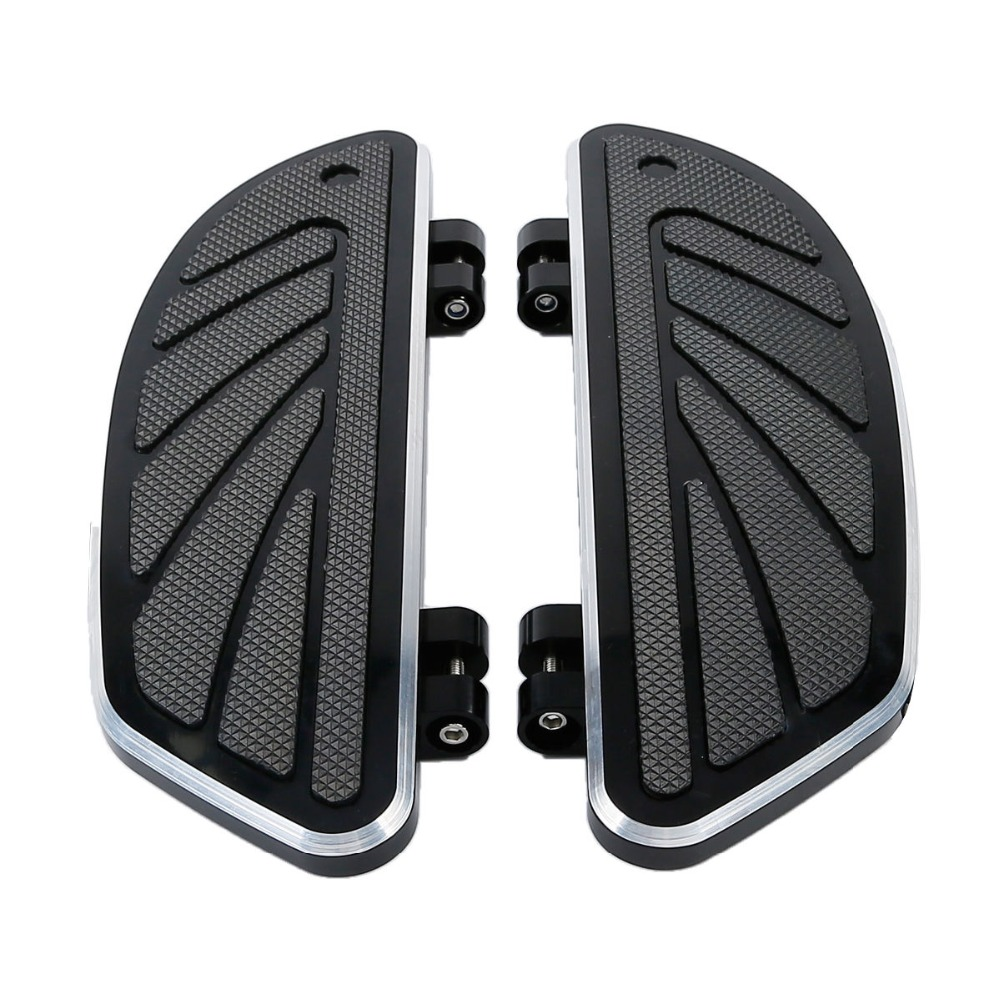 Motorcycle Airflow Rider Footboard Insert Kit Set For Harley Touring Road King Street Electra Glide FL Softail FLTR 1986-2018