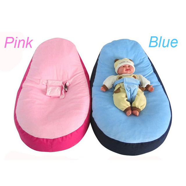 New Blue Pink Bloop Newborn Babies Beanbag Chair Kids Toddler Baby Bed Crib Sofa