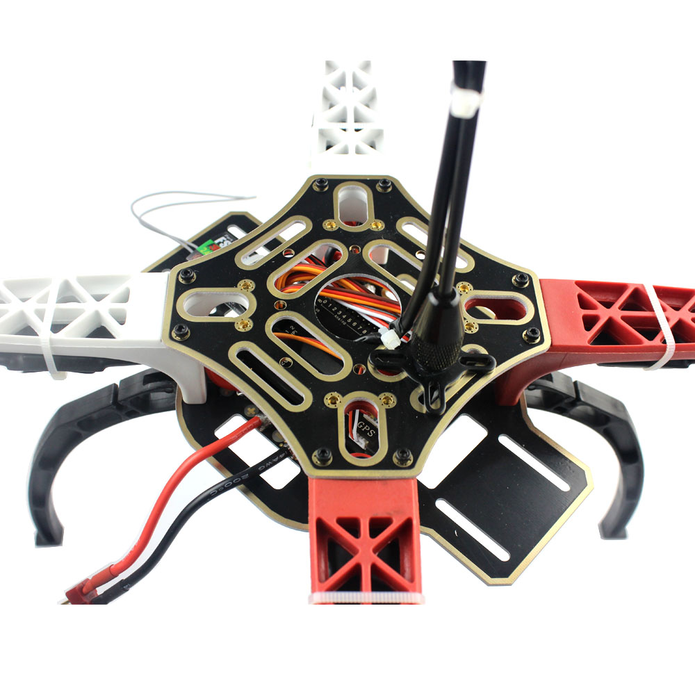 cheapest DIY RC Drone 4-axis Aircraft Quadrocopter F450-V2 Frame GPS APM2 8 Flight Controller Aerial FPV PTZ AT10 II Transmitter Battery