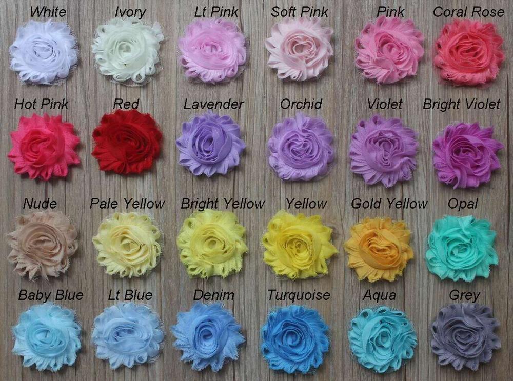30y 2 5 Chiffon Shabby Flower for Girls Hair Accessories Headband Hair Clip Flowers Chiffon Rose