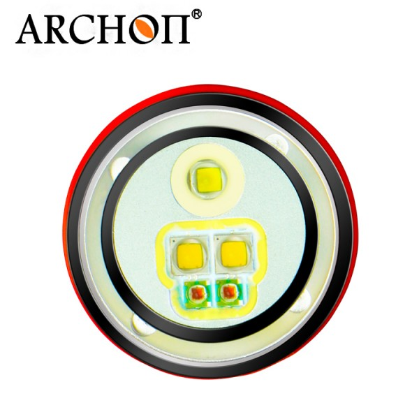 PROMOTION! ARCHON D15VP W21VP 100M Underwater Diving Flashlight Video Spot Light White Red CREE LED 1300lm Dive Torch