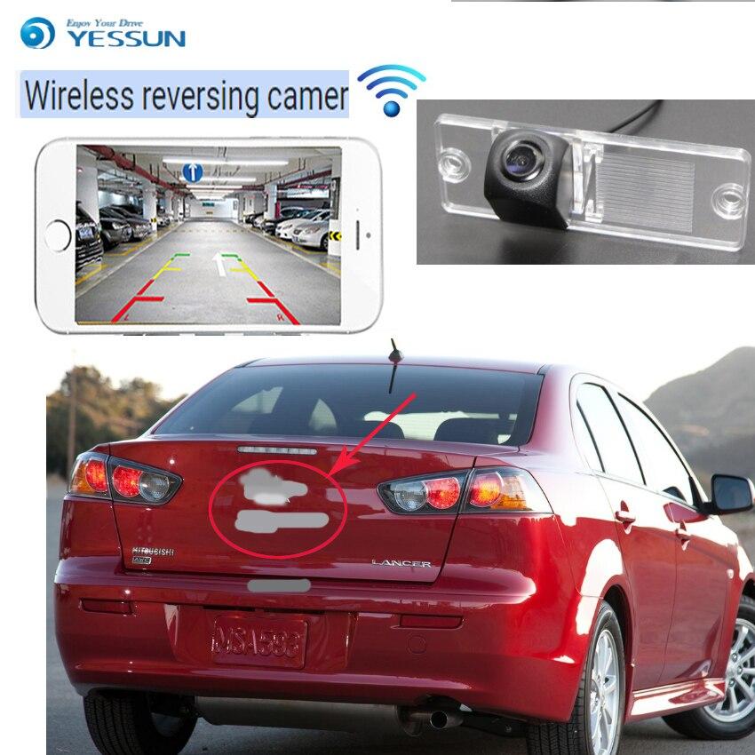 YESSUN voiture nouveau hd sans fil caméra arrière pour Mitsubishi Triton L200 Hunter Sportero Strada MK3 pour Mitsubishi Lancer V3 2008 ~ 2014