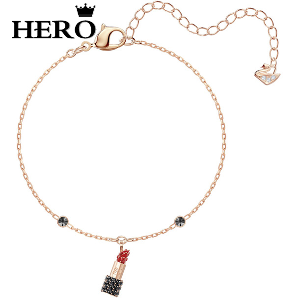 HERO Original Copy High Quality 1:1 SWA Love Mouth Red Plated Rose Gold Bracelet With Logo EnvelopeHERO Original Copy High Quality 1:1 SWA Love Mouth Red Plated Rose Gold Bracelet With Logo Envelope
