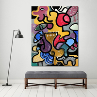 HDARTISAN Wall Pictures For Living Room Canvas Art Abstract Animal Painting Picassos Cat Woman Home Decor