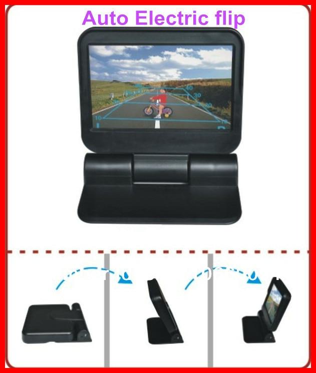 Upgrade wideo samochodowe monitory HD 5 In-dash 800*480 samochód Auto Electric flip/automatycznie na DVD/minotor/2Av w kamera parkowania