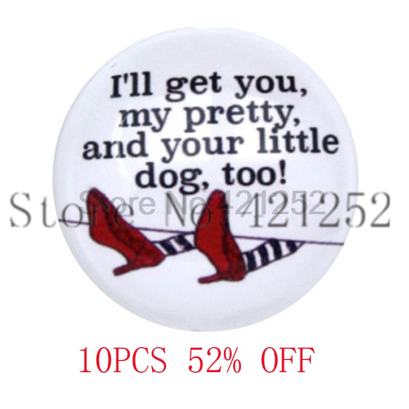 Wizard of Oz Ill Get You My Pretty, Wicked Witch of the East Necklace keyring bookmark c ...