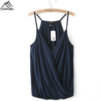2016 NEW Summer Women Top Tank Fashion Polyester Casual Shirt Crop Tops Strap Off The Shoulder
