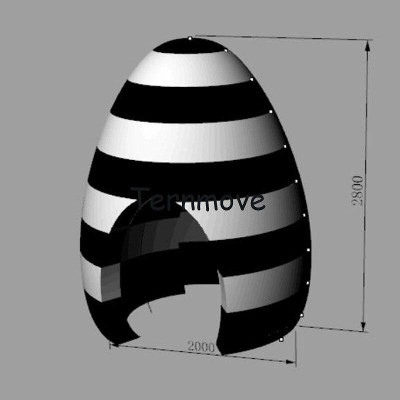 Надувные 3D photo booth для рекламы надувные яйцо палатка со светодиодными огнями мобильного квадратный Дисплей форму яйца Пасхальные вечерние п...