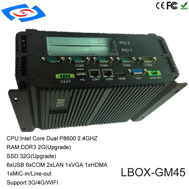 Factory Store Fanless X86 Embedded Industrial Computer With 6xUSB 2xLAN 1xVGA 1xHDMI 2xPCI 2xMini PCIE Mini PC Support 3G Modem
