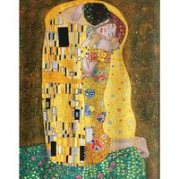Hand painted oil paintings on Canvas Gustav Klimt's The Kiss artwork Reproduction Romantic lover picture Bedroom High Quality