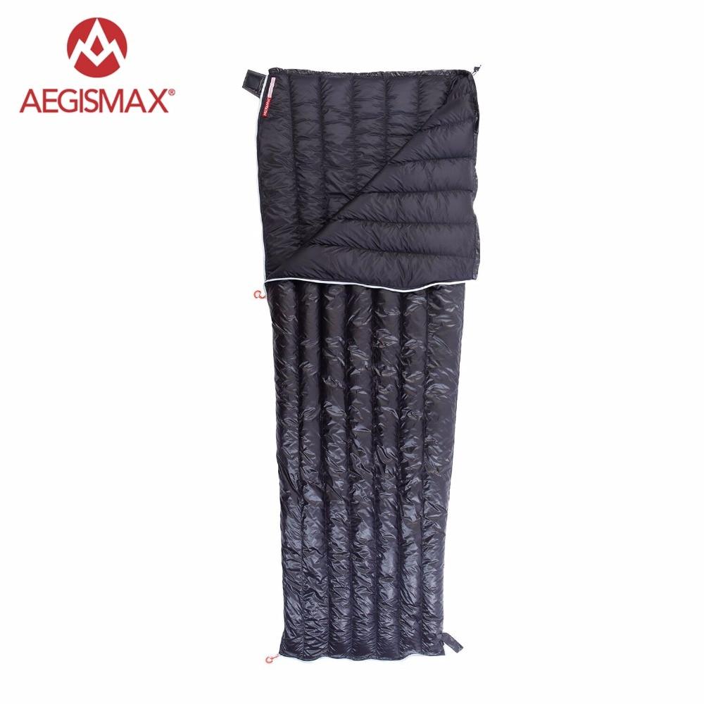 AEGISMAX Filling 280g 308g Ultralight Envelope type White Goose Down Camping Hiking Sleeping Bag Spring Autumn