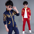 10 to 12 years old boy spring suits new 2017 male or children's   spring and autumn period the leisure sports two-piece fashion